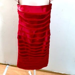 White House/black market Red strapless Dress